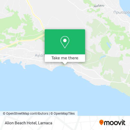 Alion Beach Hotel χάρτης