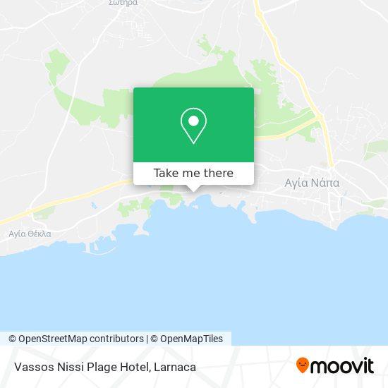 Vassos Nissi Plage Hotel χάρτης