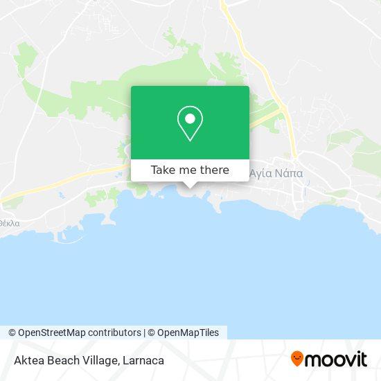 Aktea Beach Village χάρτης