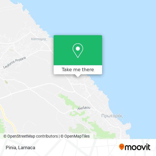 Pinia χάρτης