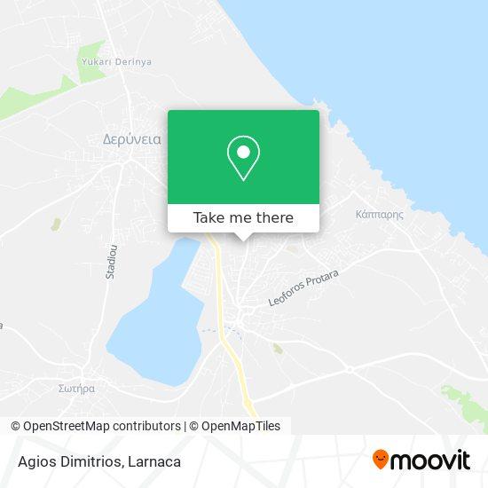 Agios Dimitrios χάρτης