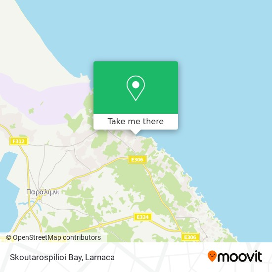 Skoutarospilioi Bay χάρτης