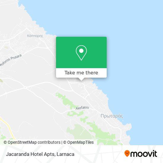 Jacaranda Hotel Apts χάρτης