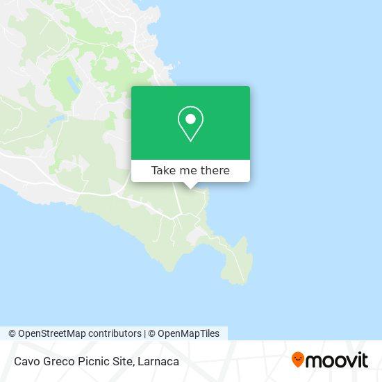 Cavo Greco Picnic Site χάρτης