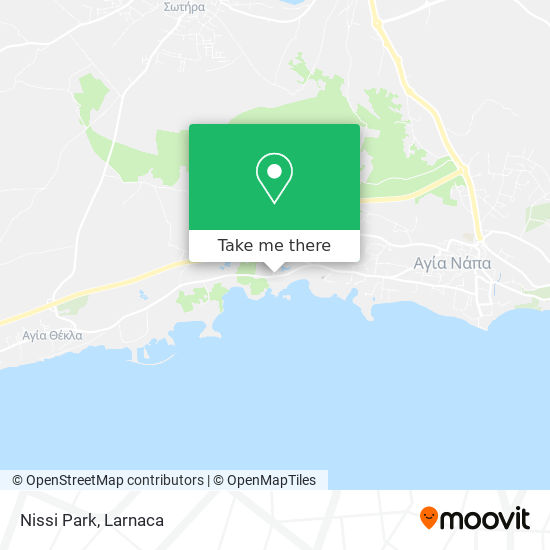 Nissi Park χάρτης