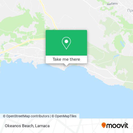 Okeanos Beach χάρτης