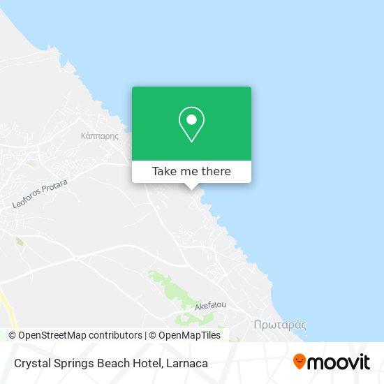 Crystal Springs Beach Hotel χάρτης
