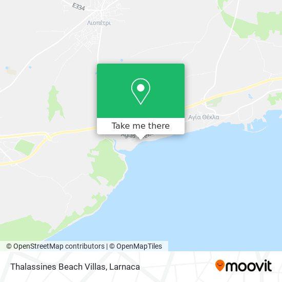 Thalassines Beach Villas χάρτης