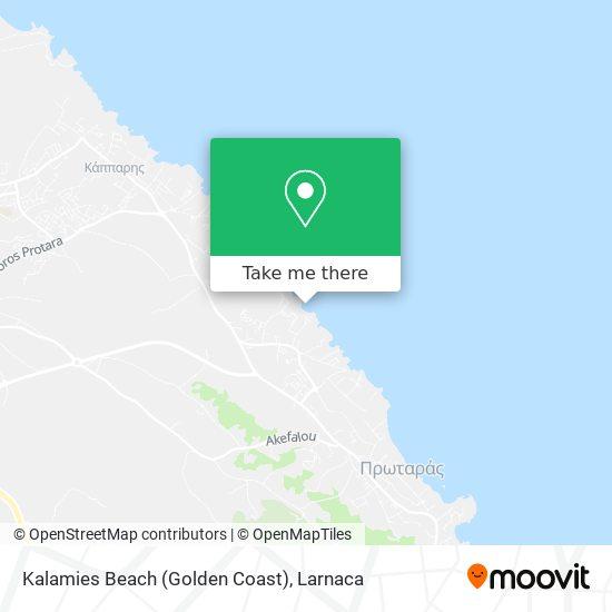 Kalamies Beach (Golden Coast) χάρτης