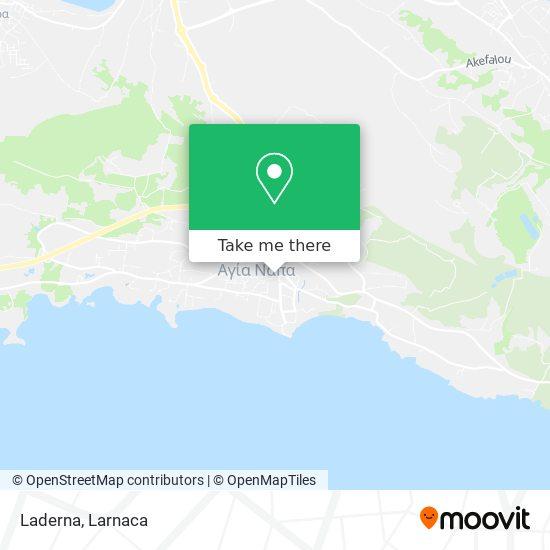 Laderna χάρτης
