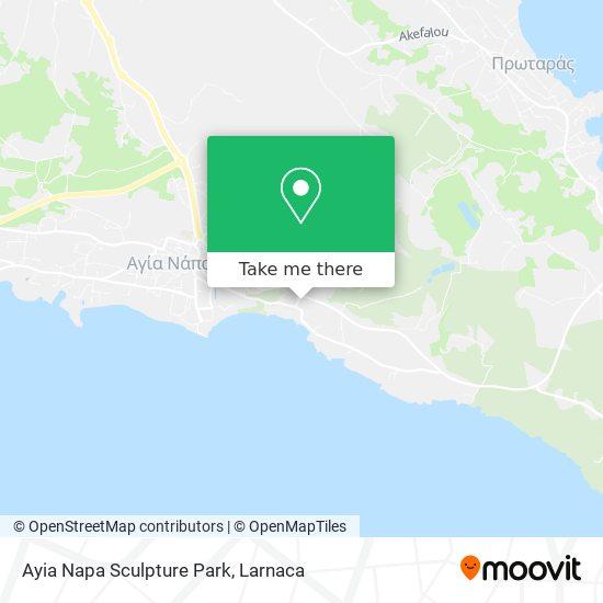 Ayia Napa Sculpture Park χάρτης