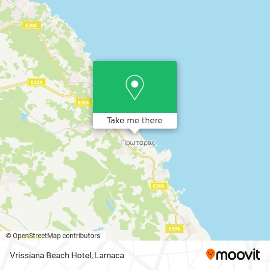 Vrissiana Beach Hotel χάρτης