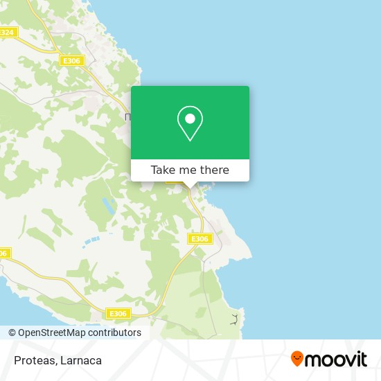 Proteas χάρτης