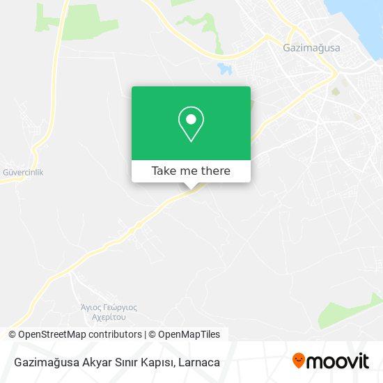 Gazimağusa Sınır Kapısı χάρτης