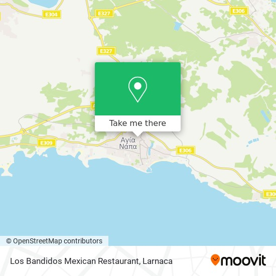 Los Bandidos Mexican Restaurant χάρτης