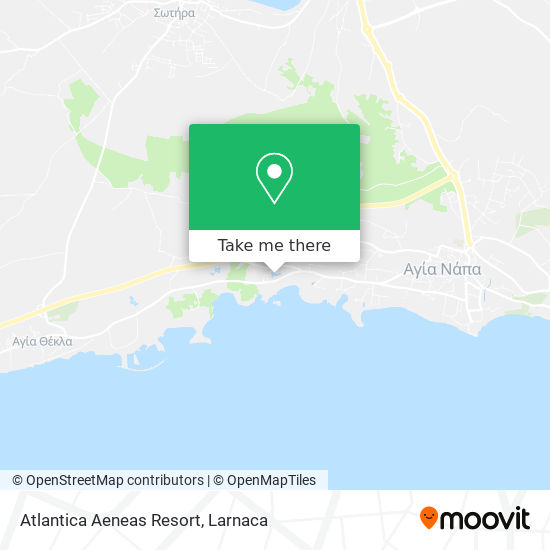 Atlantica Aeneas Resort χάρτης