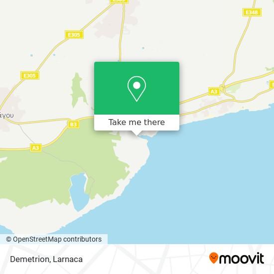 Demetrion χάρτης