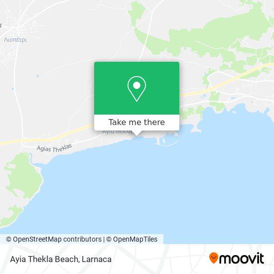 Ayia Thekla Beach χάρτης