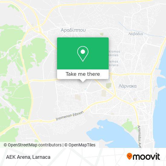 AEK Arena χάρτης