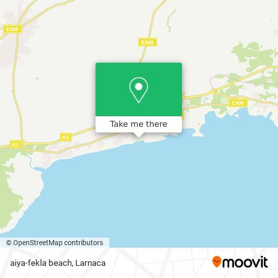 aiya-fekla beach χάρτης