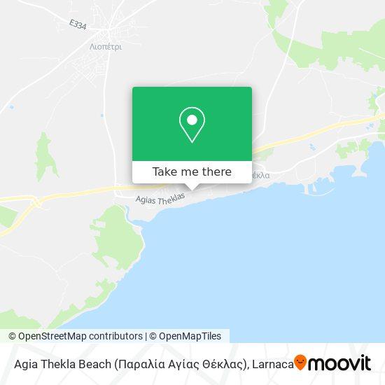 Agia Thekla Beach (Παραλία Αγίας Θέκλας) χάρτης