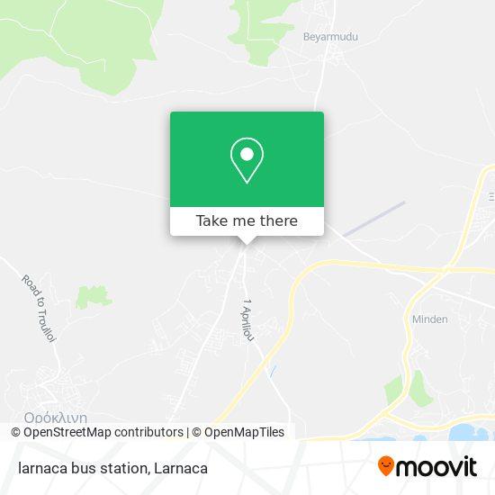 larnaca bus station χάρτης