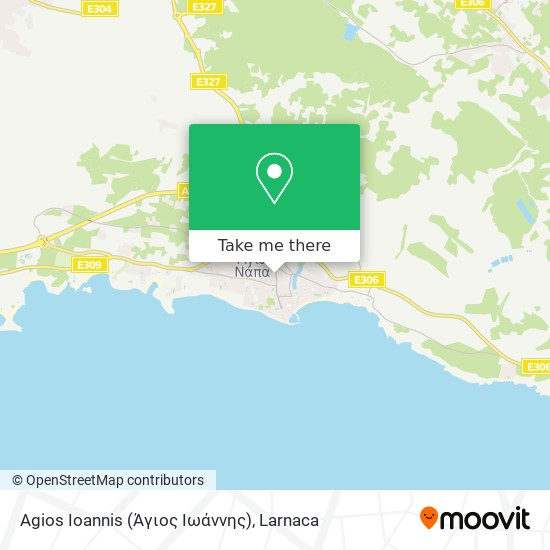 Agios Ioannis (Άγιος Ιωάννης) χάρτης