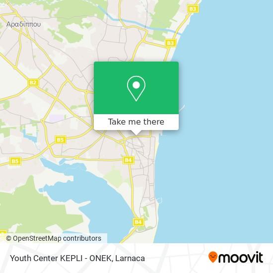 Youth Center KEPLI - ONEK χάρτης