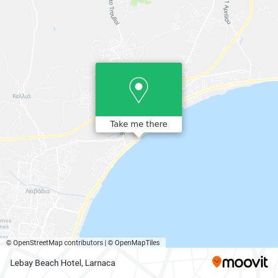 Lebay Beach Hotel χάρτης