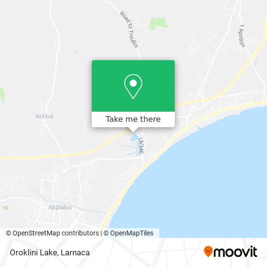 Oroklini Lake χάρτης