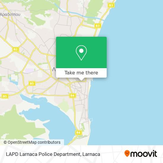 LAPD Larnaca Police Department χάρτης