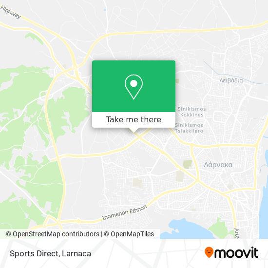 Sports Direct χάρτης
