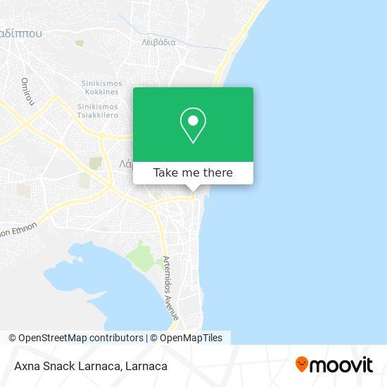Axna Snack Larnaca χάρτης