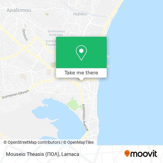 Mouseio Theasis (ΠΟΛ) χάρτης