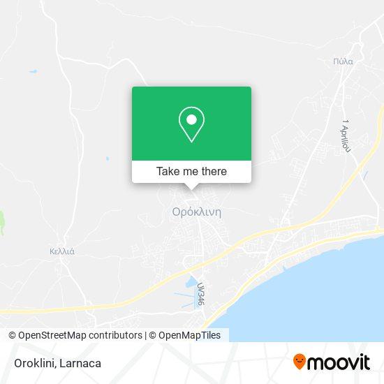 Oroklini χάρτης