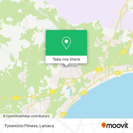 Fysentzou Fitness χάρτης