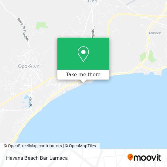 Havana Beach Bar χάρτης