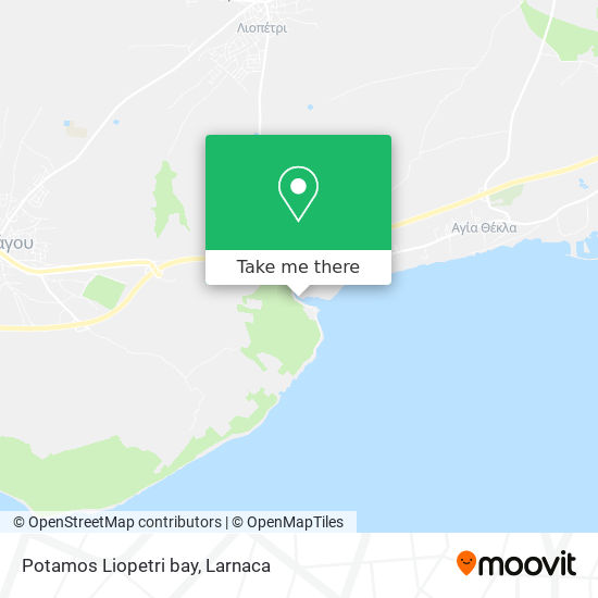 Potamos Liopetri bay χάρτης