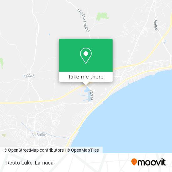Resto Lake χάρτης