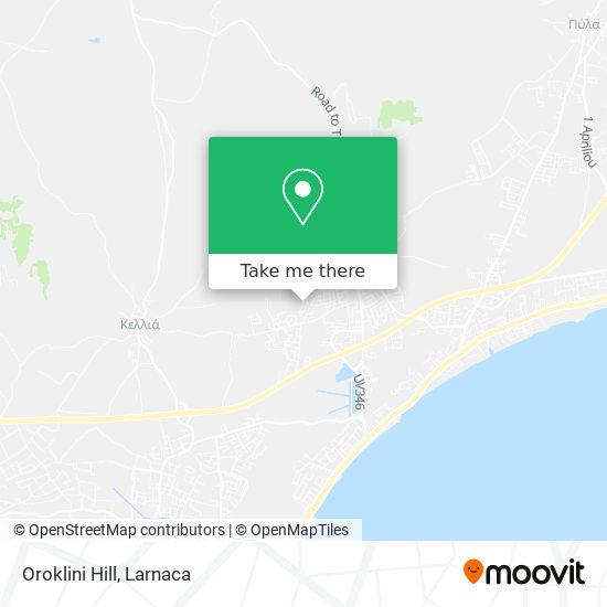 Oroklini Hill χάρτης