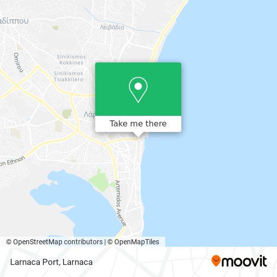 Larnaca Port χάρτης