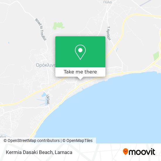 Kermia Dasaki Beach χάρτης