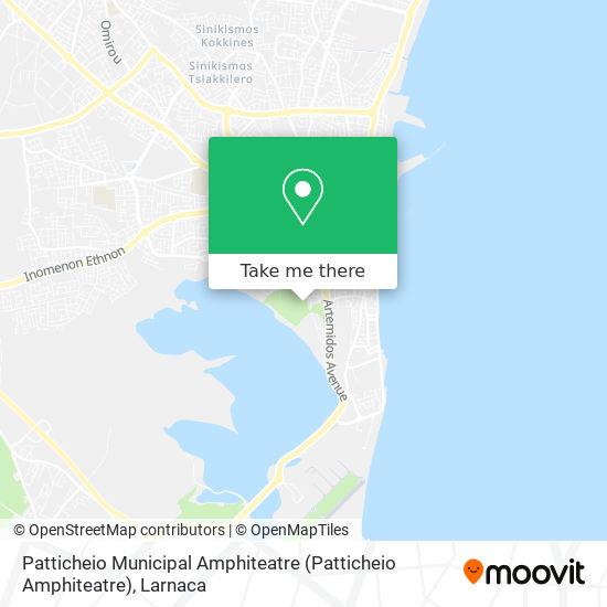 Patticheio Municipal Amphiteatre (Patticheio Amphiteatre) χάρτης