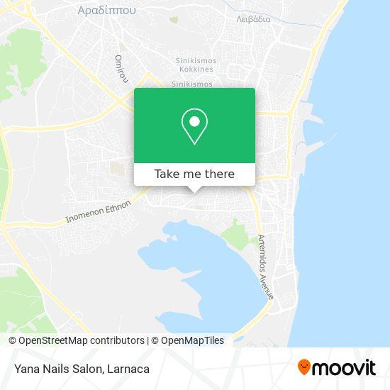 Yana Nails Salon χάρτης