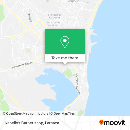 Kapellos Barber shop χάρτης