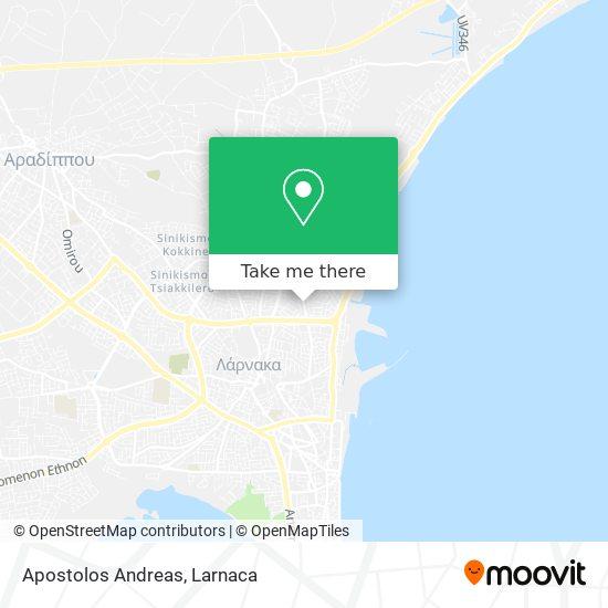 Apostolos Andreas χάρτης