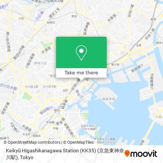 Keikyū Higashikanagawa Station (KK35) (京急東神奈川駅) map