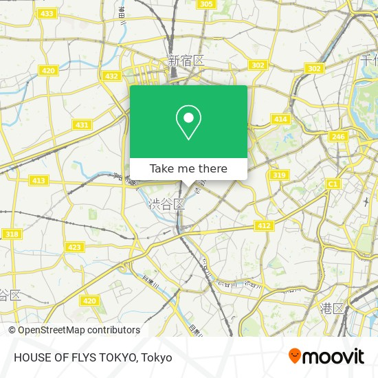 HOUSE OF FLYS TOKYO map