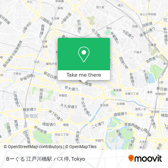Bーぐる 江戸川橋駅 バス停 map