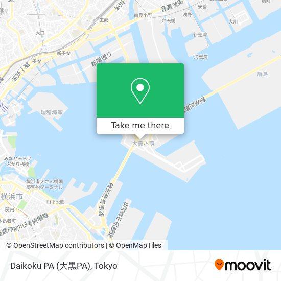 Daikoku PA (大黒PA) map